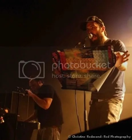 Scroobius gives the audience a crash course in science