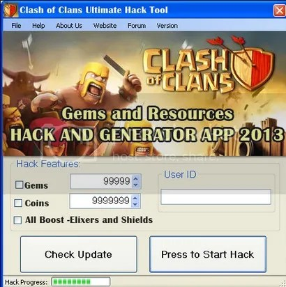 how to hack coc gems