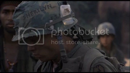 Image result for johnny depp and sherilyn helmet in platoon