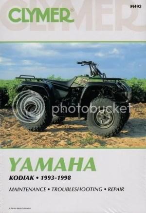 CLYMER SERVICE REPAIR MANUAL M493 YAMAHA KODIAK 400 4X4