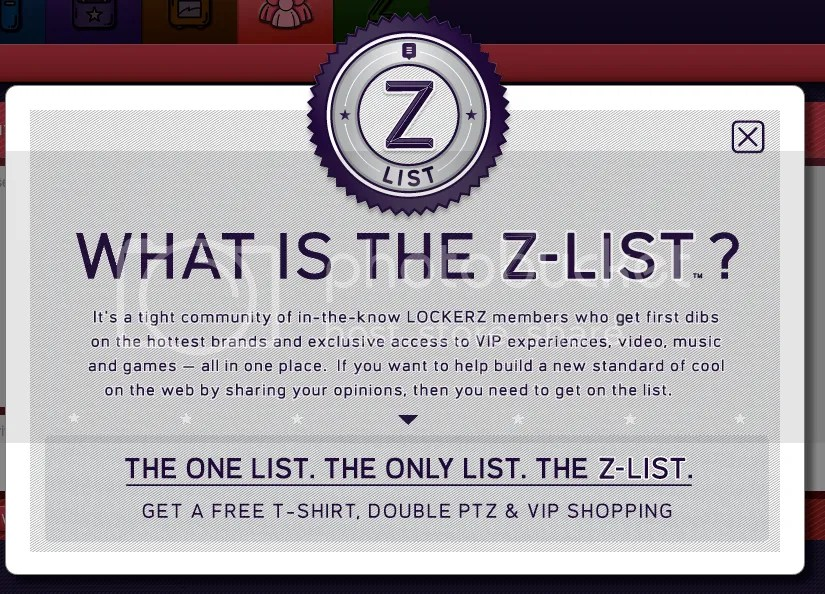 Lockerz - The Z List