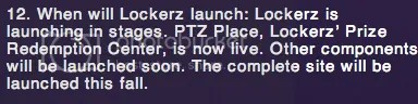 Lockerz - Launch faq