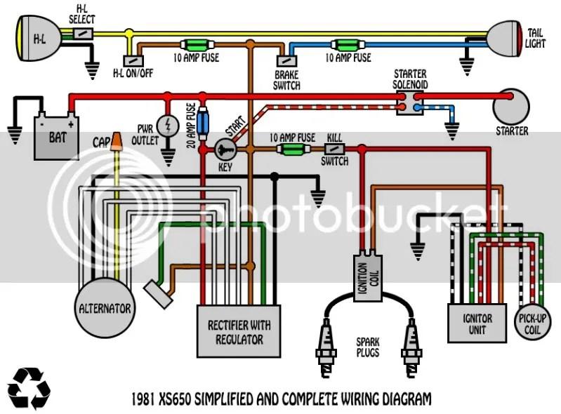 Xs400 Simplified Wiring Diagram - Wiring Diagrams Lol on