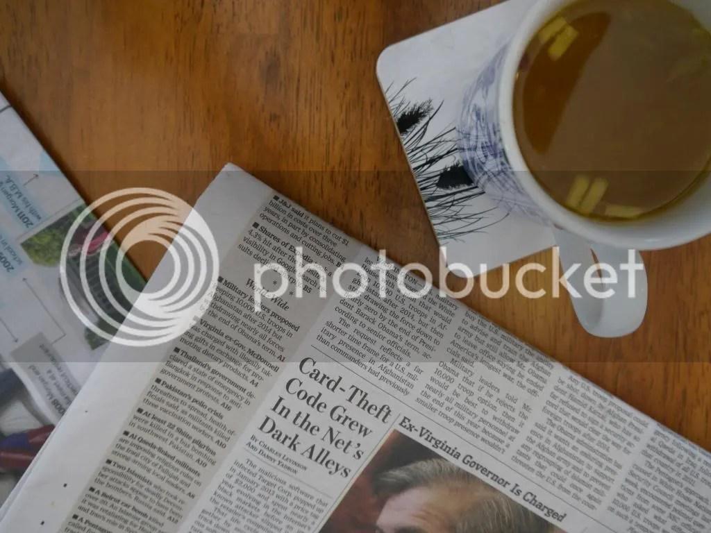 Lemon Ginger Honey Mug and Paper