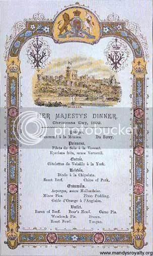 Victorian Menu