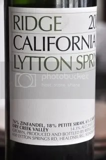zinfandel photo: Ridge Lytton Springs Zinfandel 2003 ridgelyttonspringszinfandel2003.jpg