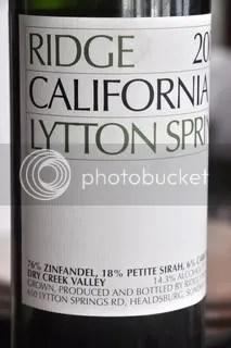 zinfandel photo: Ridge Lytton Springs Zinfandel 2003 ridgelyttonspringszinfandel2003.jpg