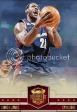 09/10 Panini Court Kings LeBron James Base Card