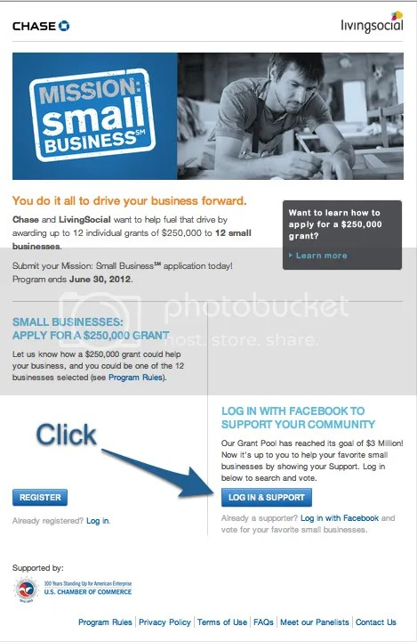 Mission Small Business Vote for Social Savvy Geek Step 1