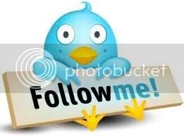 Twitter Bird with Follow Me Sign