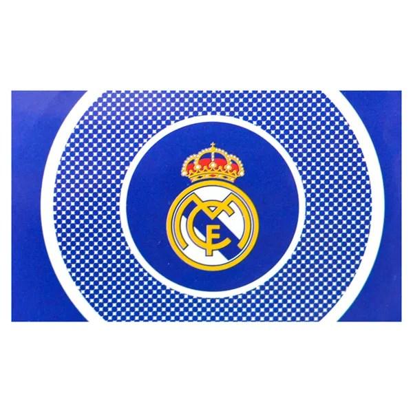 REAL MADRID CF LARGE BLUE FLAG BULLSEYE OFFICIAL FOOTBALL ...