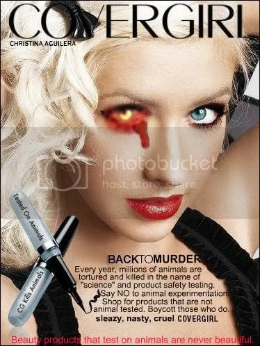 digitally altered ad for mascara, showing beauty hurts