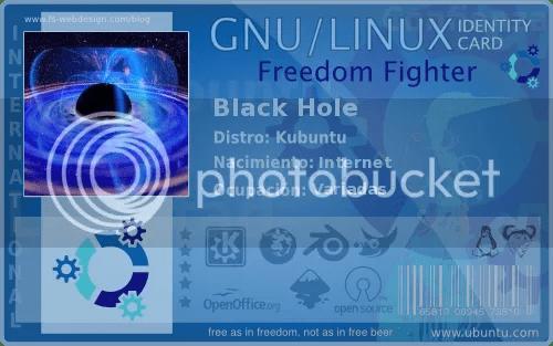 Black Hole Kubuntu Card