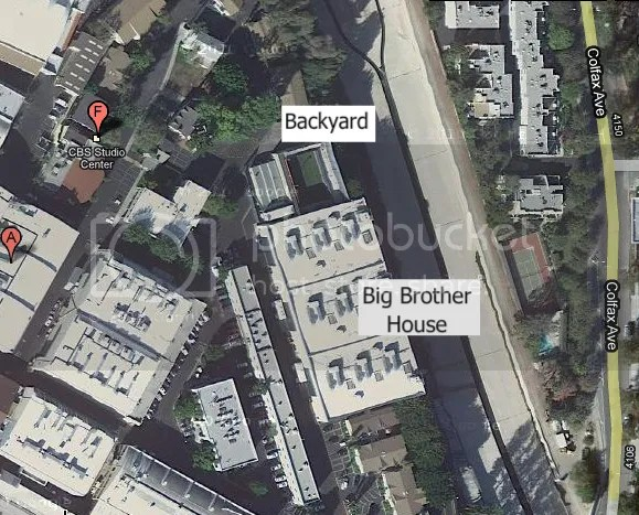 Satellite view of the big brother house big brother buzz for Outside view of house
