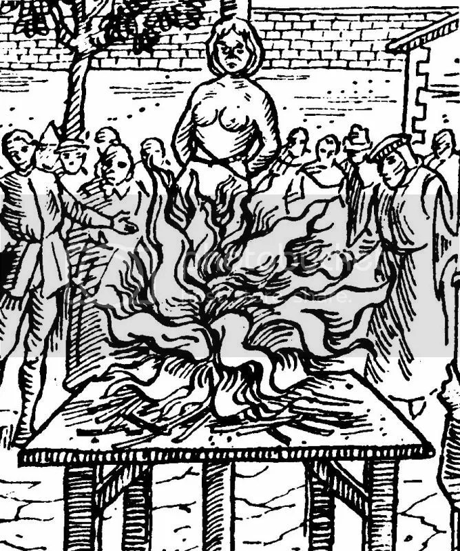 witch burning photo: Witchcraft Woodcut 04-19witchburning.jpg
