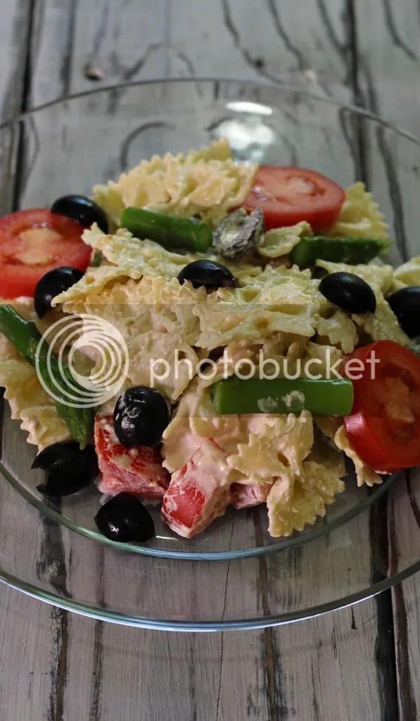 Country Mouse City Spouse- Asparagus Pesto Pasta Salad
