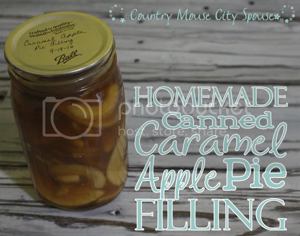 Homemade Canned Caramel Apple Pie Filling- Country Mouse City Spouse