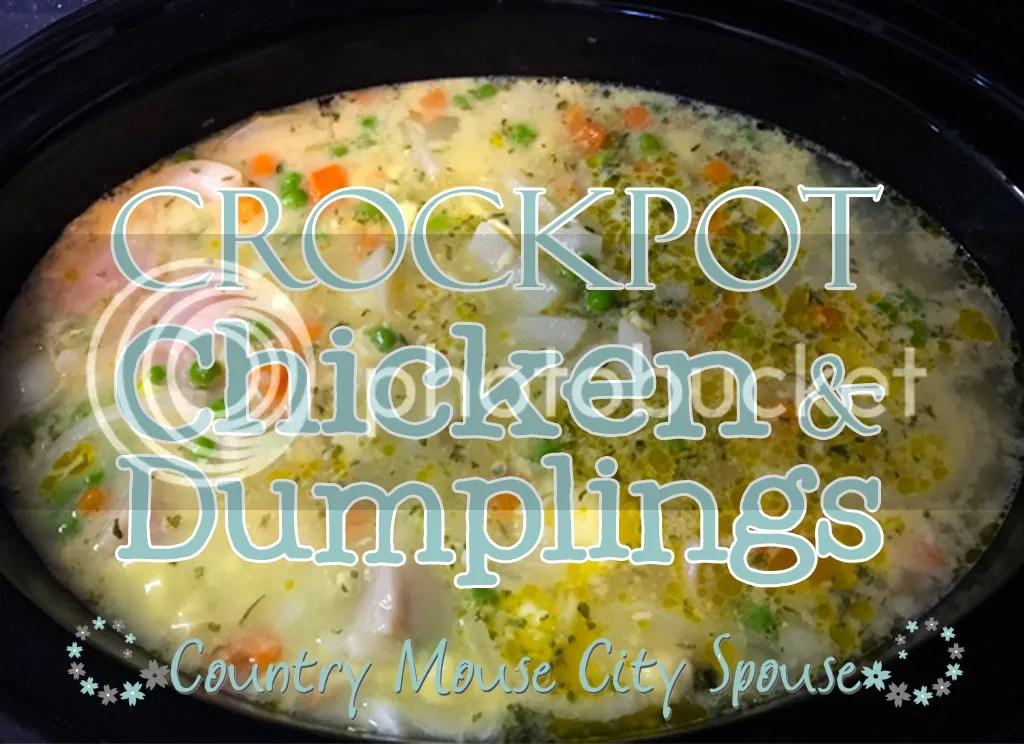 Crock-tober! and Crock-Pot Chicken & Dumplings Recipe- Country Mouse City Spouse