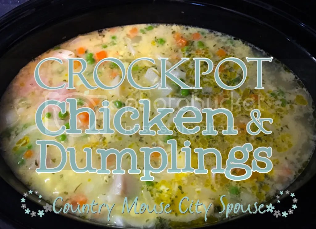 Crock-tober! and Crock-Pot Chicken & Dumplings Recipe- Country Mouse City Spouse
