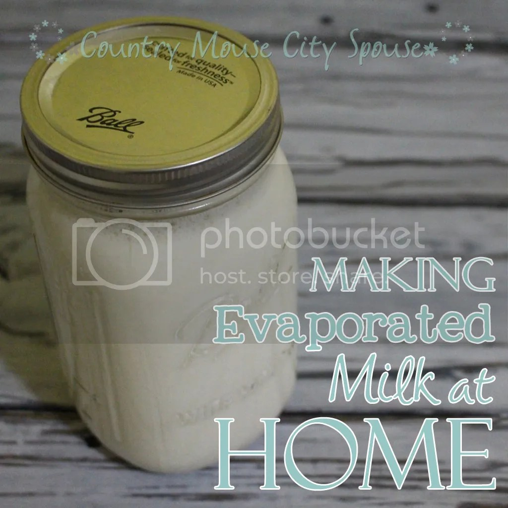 Making Evaporated Milk at Home- Country Mouse City Spouse