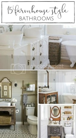 15 Farmhouse Style Bathrooms Full of Rustic Charm @ Making it in the Mountains