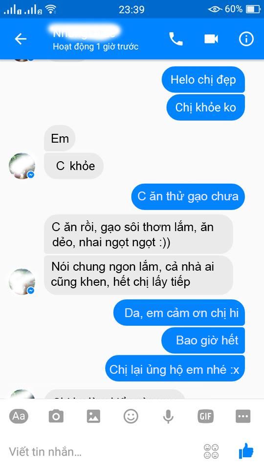 Gạo Séng cù Điện Biên được khách hàng đánh giá cao