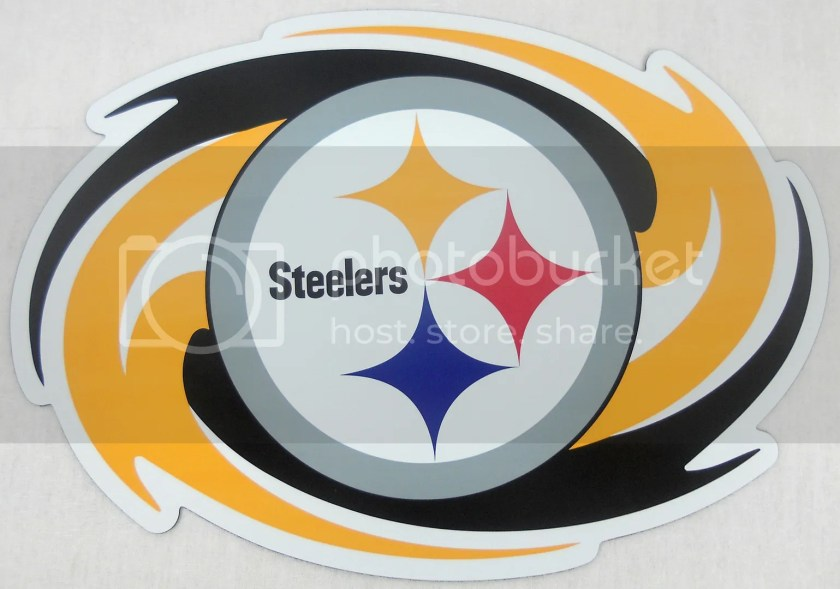 pittsburgh steelers nfl licensed car / truck magnet bright