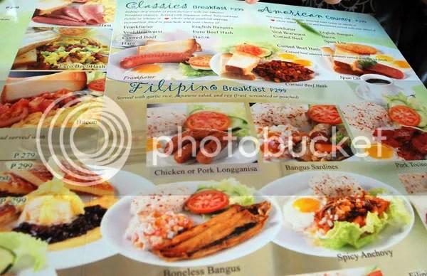 Cebu restaurant UCC Cafe Terrace menu