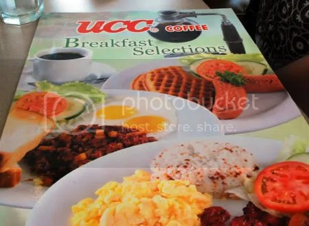 Cebu restaurant UCC Cafe Terrace breakfast