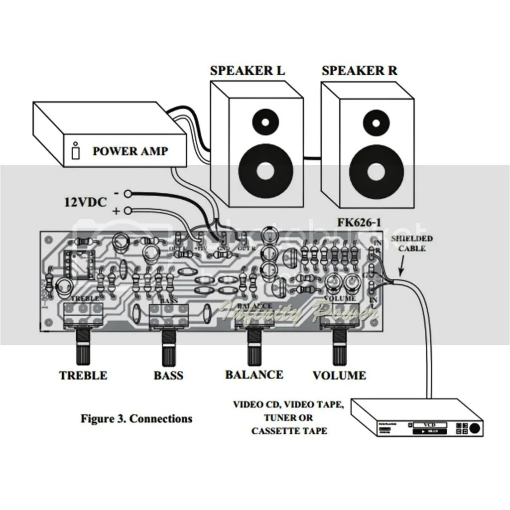 Fa628 Super Tone Control Stereo Circuit Assembled For