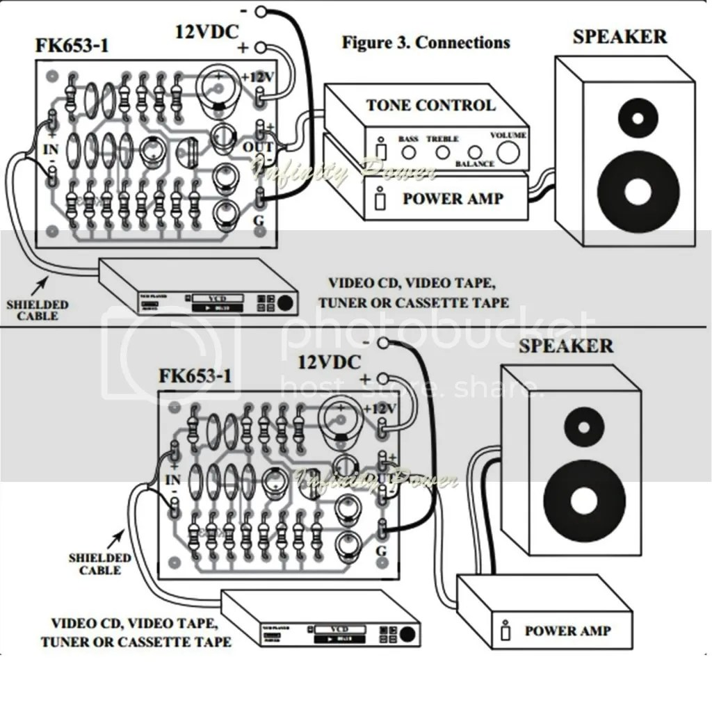 Fa653 Loudness Mono Bass And Twitter Increase Circuit Kit For Power Amplifier
