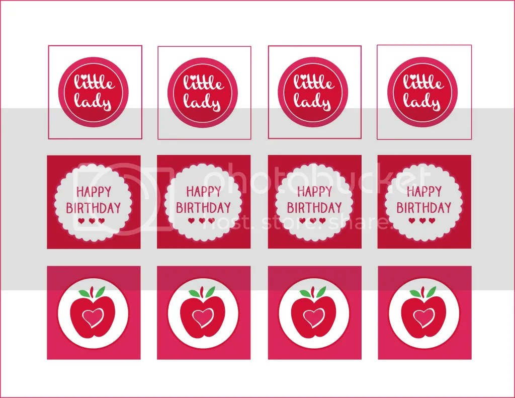 Pink Apple Birthday Party Printables