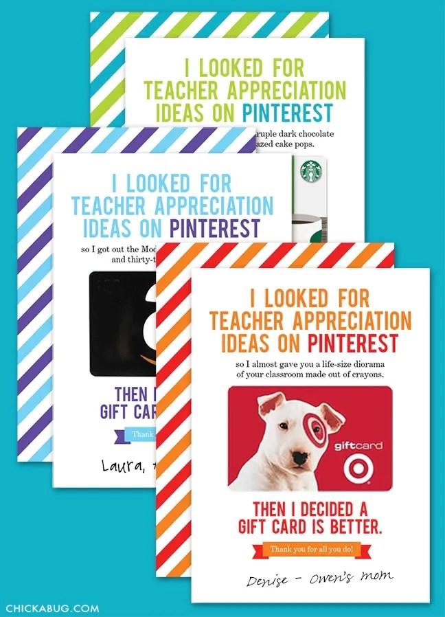 12 Printable Gift Card Holders For Teachers Cool Mom Picks