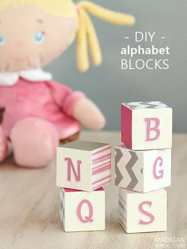 Easy DIY Baby Block Decor