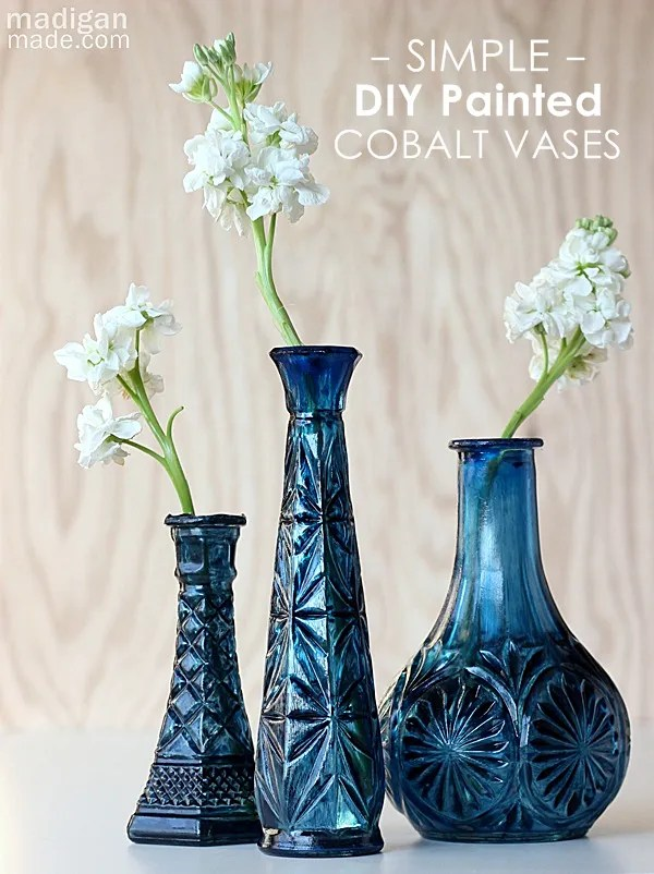 Diy Cobalt Painted Glass Video Tutorial Rosyscription