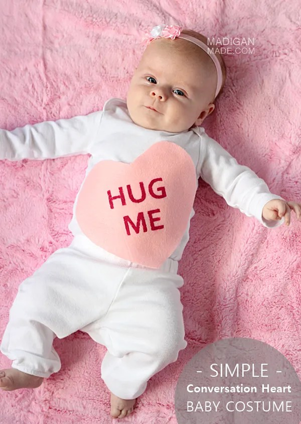 Easy Halloween Baby Costume: A Conversation Heart