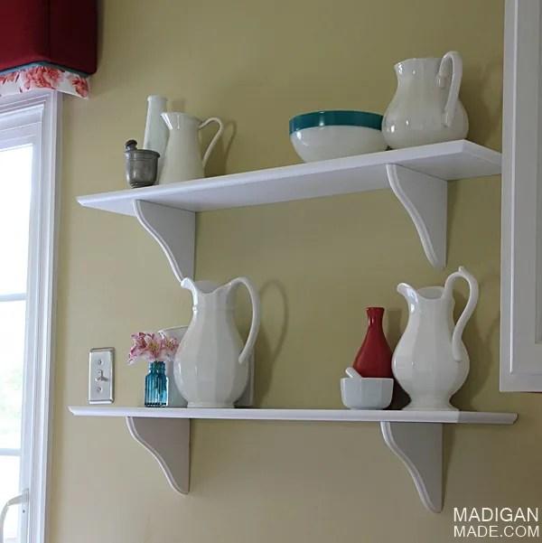 Café Shelving: A Simple Kitchen Decor Update