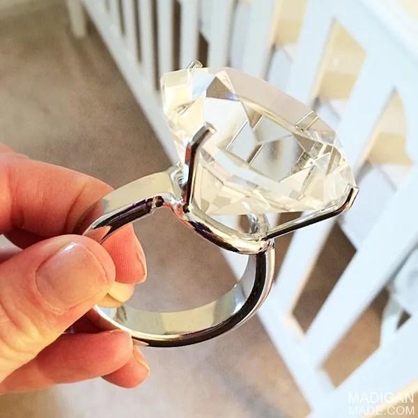 diamond ring decor idea