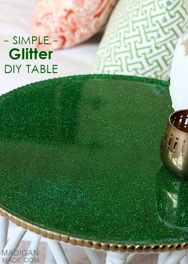 How To Embed Glitter Into A Tabletop Rosyscription