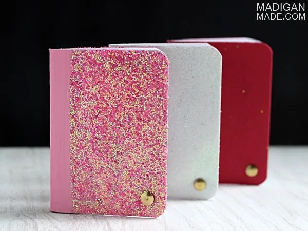cute glitter notebooks