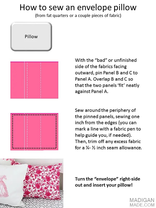 easy DIY envelope pillow tutorial