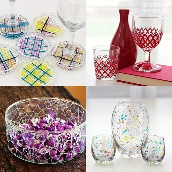 glass paint craft ideas and tips