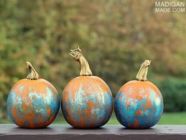 glitter pumpkin craft idea
