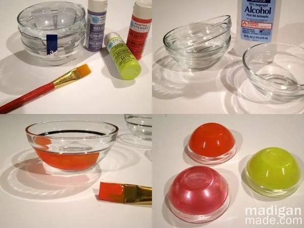 how to paint glass bowls - craft tutorial