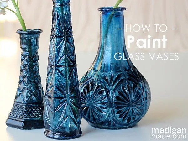 Diy cobalt painted glass video tutorial rosyscription for Can i paint glass with acrylic paint