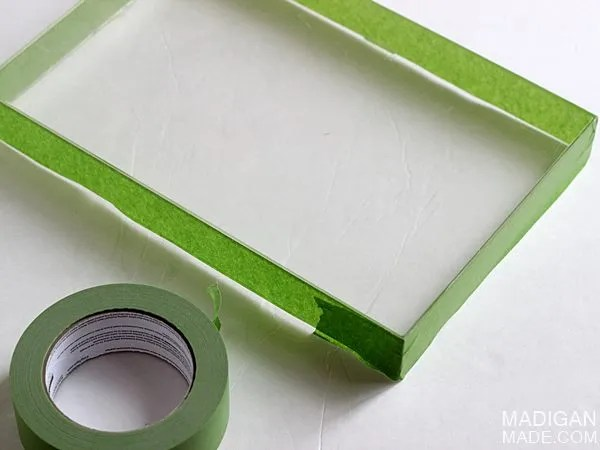 how to turn an old acrylic frame into a tray