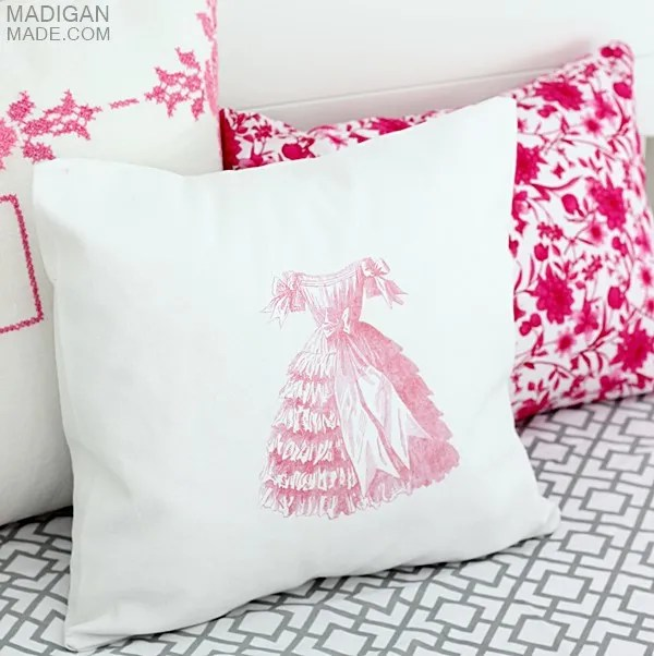 How to transfer images to fabric pillows