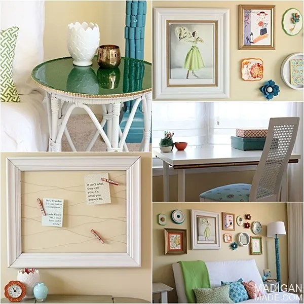 fun, colorful and personal home office décor
