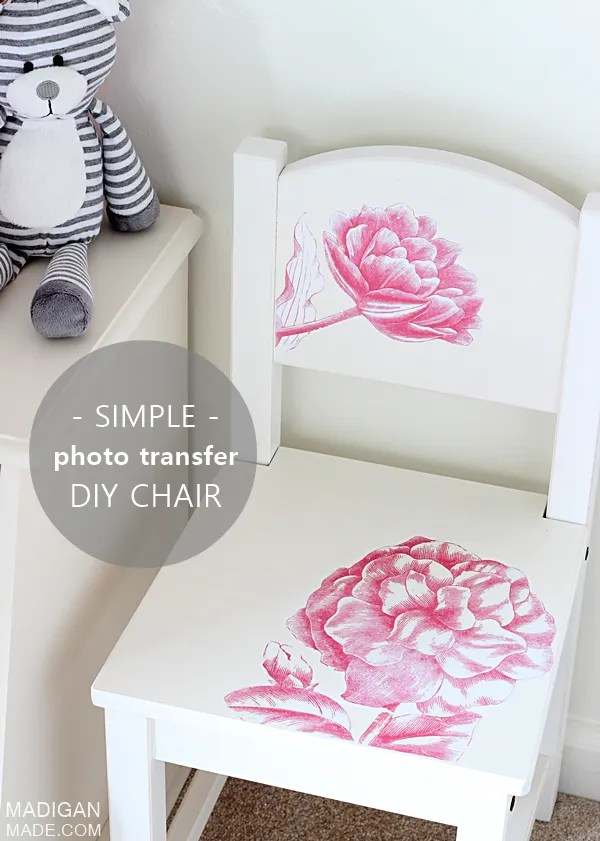 Simple photo transfer project - a DIY kids furniture update