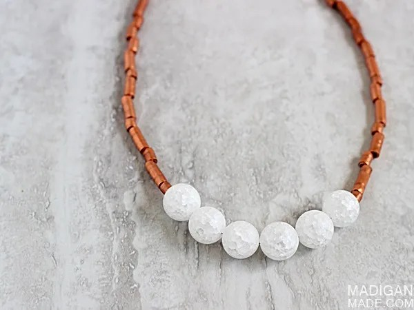 Simple and stunning DIY necklace from copper tubing